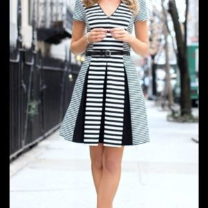 Banana Republic fit and flare striped dress size 8